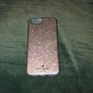 Kate Spade iPhone 7 glitter case (rubber)
